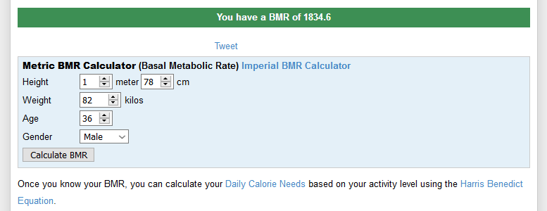 bmr calculator score andreas